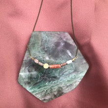 Sunstone + Howlite Beaded Necklace
