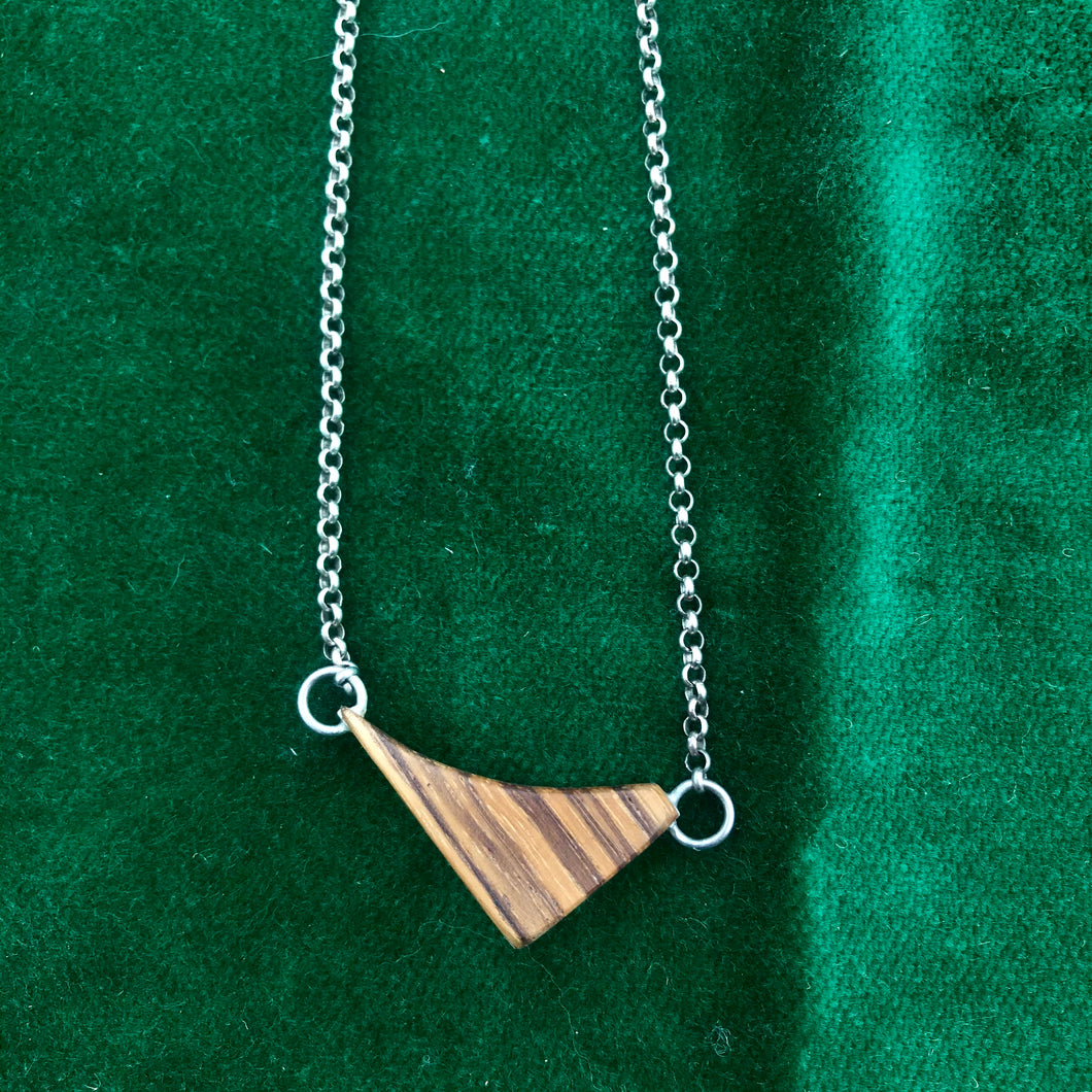 Silver + Wood Necklace