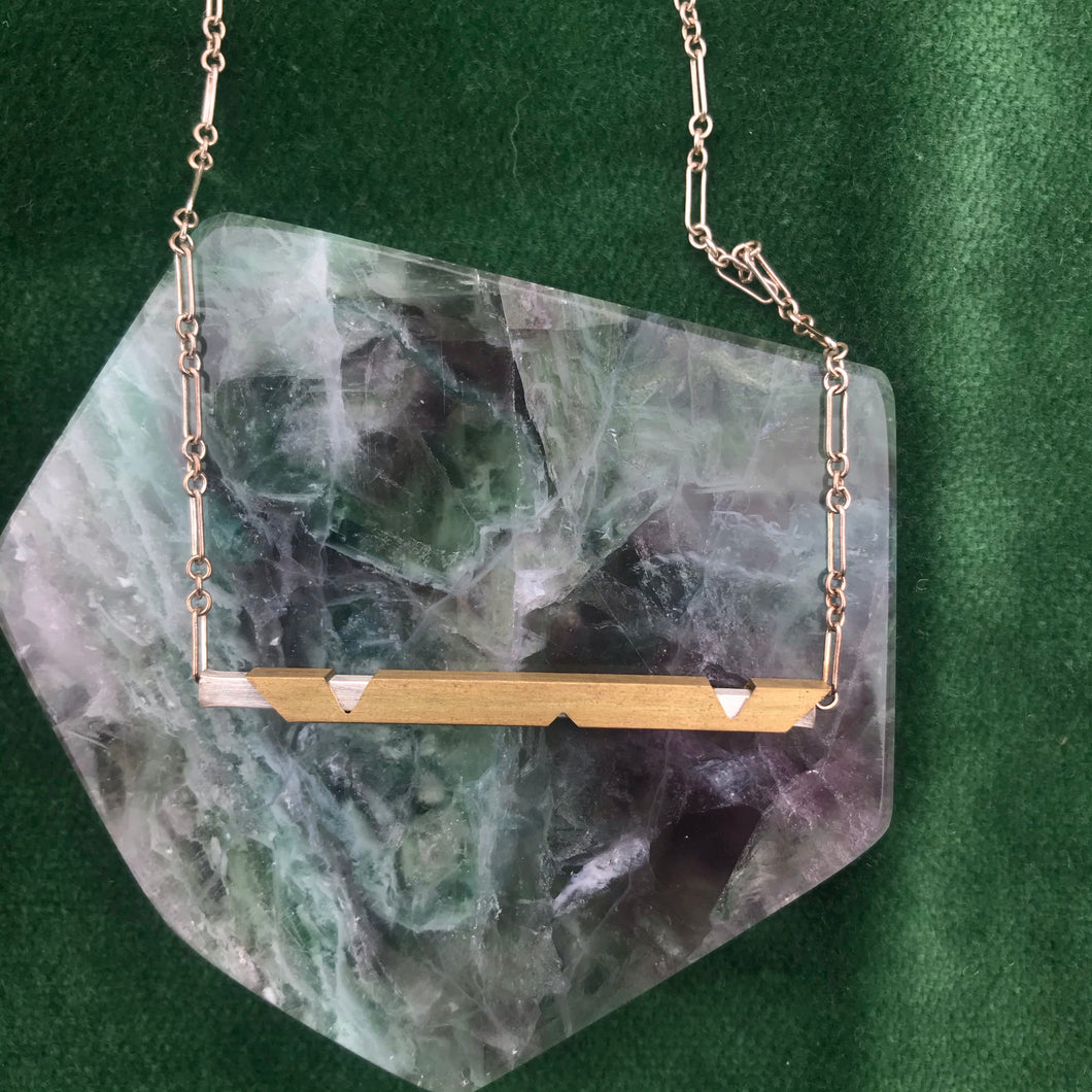 Brass + Silver Necklace