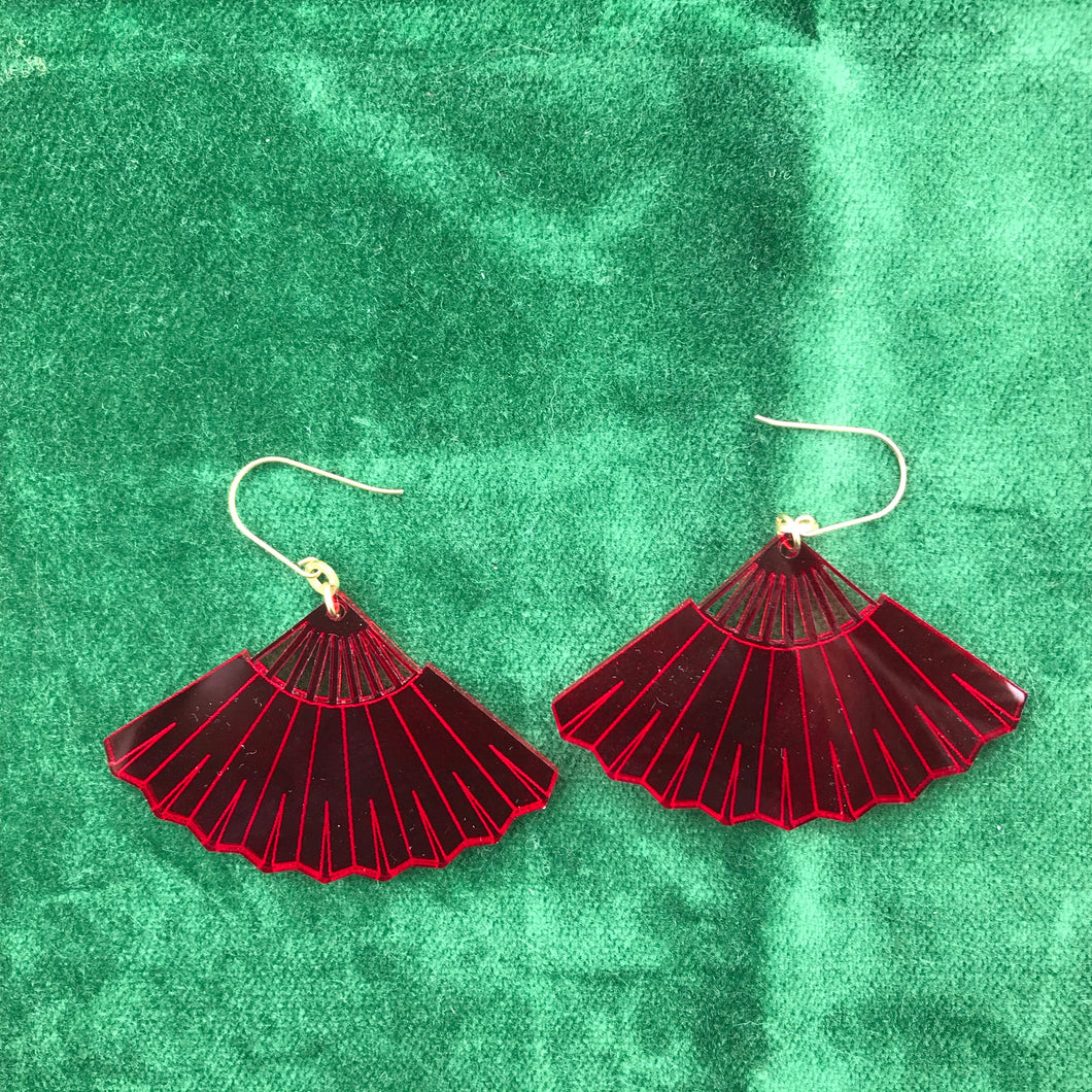 Fan Lucite Earrings