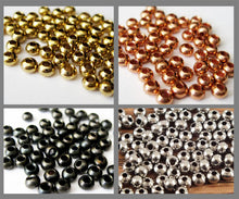 "Brass Fly Tying Beads 3.5mm 9/64"" - 50/pack"