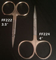 "4"" Premium Scissors Set w/Gold Handle Straight & Arrow Point"