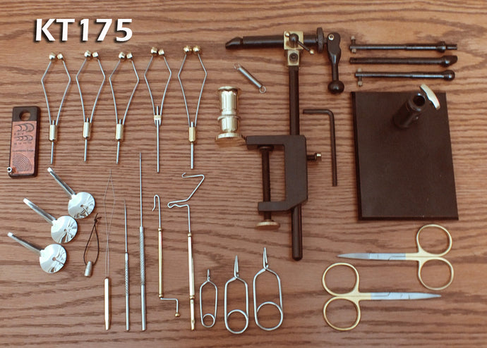 26 Piece Premium Fly Tying Tool Kit w/Rotating Vise