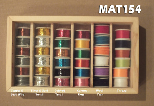 Assorted Fly Tying Floss, Tinsel, Wool, Copper & Lead Wire - 36 rolls