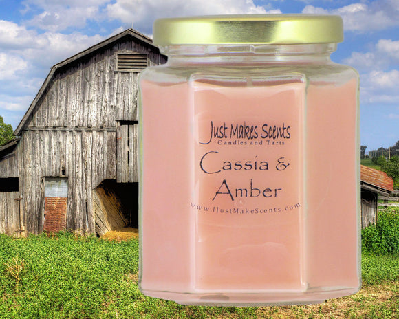 Cassia & Amber Scented Candle