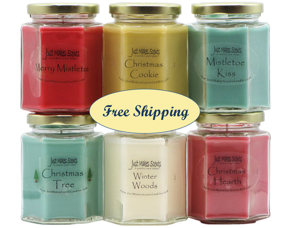 Christmas Candle Value Pack (Christmas Tree, Christmas Hearth, Winter Woods, Christmas Cookie, Merry Mistletoe, Mistletoe Kiss))