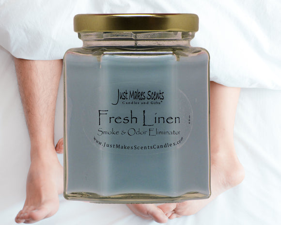 Fresh Linen Scented Smoke & Odor Eliminator Candle