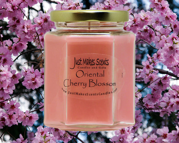 Oriental Cherry Blossom Scented Candles
