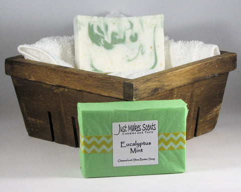 Eucalyptus Mint Oatmeal and Shea Butter Soap