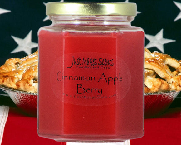 Cinnamon Apple Berry Scented Candle