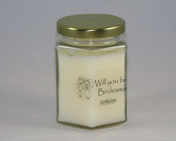 Will you be my Bridesmaid?  Candle