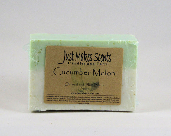 Cucumber Melon Oatmeal and Shea Butter Soap