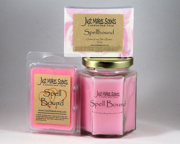 Ultimate Ladies Pack- Spellbound Oatmeal and Shea Butter Soap; Soy-Blend Candle; and Tart