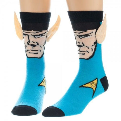 Star Trek Spock Crew Socks with Ears Licensed Brand