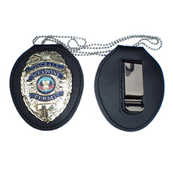 Concealed Weapon Permit Badge with Recessed Holder Belt