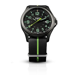 traser H3 Black/Lime P67 Officer Pro Gunmetal Watch | Textile Strap - Green