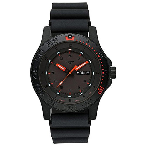 Traser Red Combat Watch - Rubber