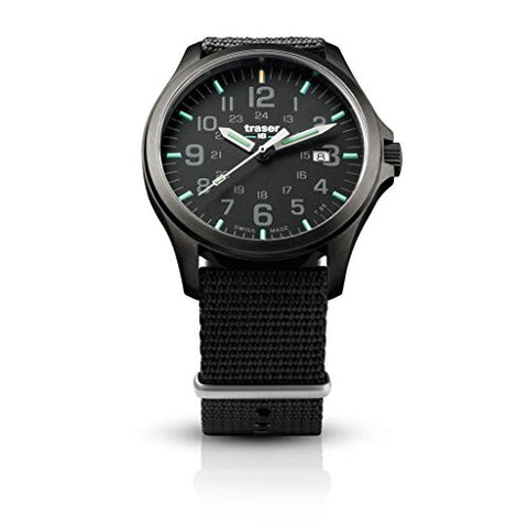 traser H3 Black P67 Officer Pro Gunmetal Watch | Nato Strap
