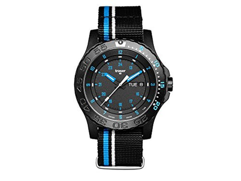 traser swiss H3 watches 105545 Blue Infinity NATO strap