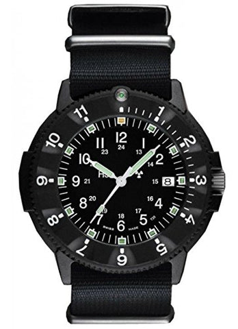 Traser CODE GREEN TRITIUM Light Source P6500 Type 6 Military Mil-Spec Watch 60 minute Bezel!