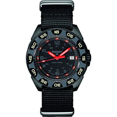 traser H3 Red Alert T100 Sapphire Watch - Black - Rubber