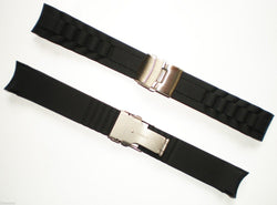 22mm DEPLOYMENT CLASP RUBBER Watch Band Strap