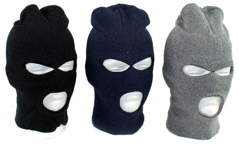 3 hole mask Fitted Balaclava Polar Fleece Motorcycle Ski Face Mask Beanie Hood