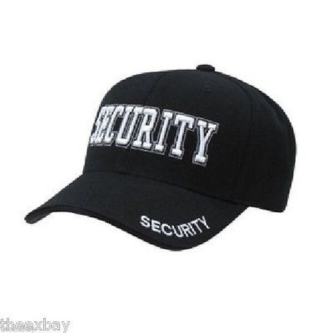 ALL Black SECURITY Embroidered  Adjustable Cap Baseball Hat
