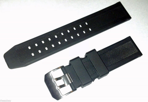 Double Prong Rubber Watch Band 23mm Strap Fits 3050 3950 3051 Luminox EVO Style