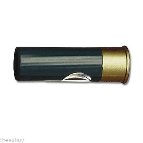 GREEN 12 Gauge Shotgun Shell Pocket Folding Knife Bullet Shot Gun Ammo