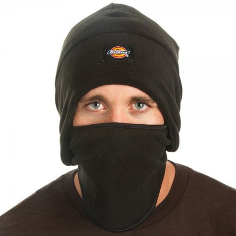 Dickies Hats 2 in 1 Fitted Balaclava Polar Fleece Motorcyle Ski Face Mask Beani