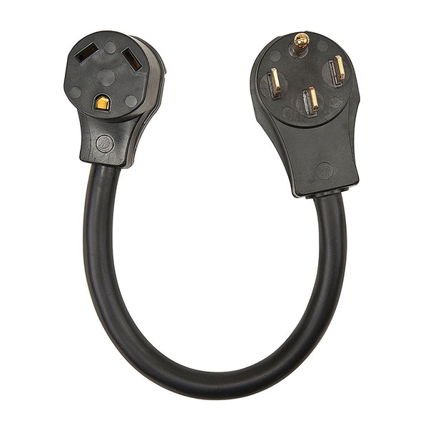 30 Amp Female to 50 Amp Male Dogbone Adapter RV Electrical Converter Cord Cable