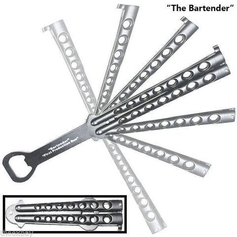 BOTTLE OPENER Practice BALISONG BUTTERFLY Knife Trainer
