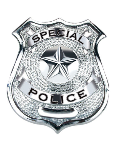 SPECIAL POLICE BADGE novelty costume Heavy Duty Metal Construction With Pin