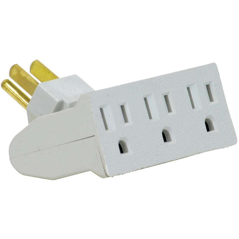 3 Outlet Swivel Electrical Power Grounded Wall Socket Tap