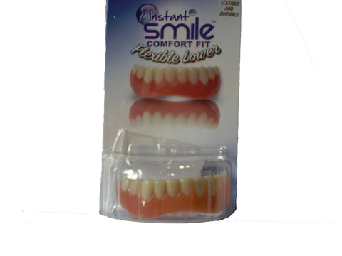 SECURE INSTANT SMILE False Fake Cosmetic Artificial Veneer Costume LOWER TEETH