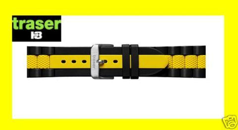 TRASER & Luminox Yellow Blk DIVE Watch Band Strap 22mm