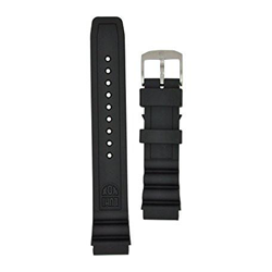 Luminox 8400  / 8800 Black Ops Strap Replacement Watch Band Black Silicone 22mm