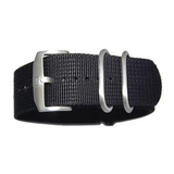 Genuine Luminox 3-Ring 22mm NATO / Zulu Replacement Strap Band - Black NAVY SEAL EVO Colormark