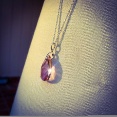 Rose Swarovski pendant necklace