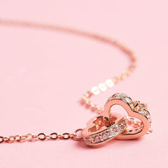 truly madly deeply eternity hearts necklace