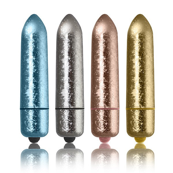 Rocks Off-120mm - Frosted Fleurs Oversized Bullet Vibe
