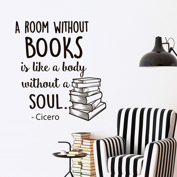A Room Without Books Vinyl Wall Decal