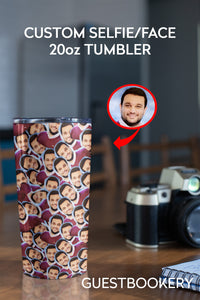 CUSTOM FACES 20oz TUMBLER - Guestbookery
