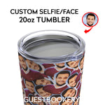 Load image into Gallery viewer, CUSTOM FACES 20oz TUMBLER - Guestbookery