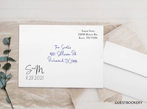 Guestbookery Custom Envelopes