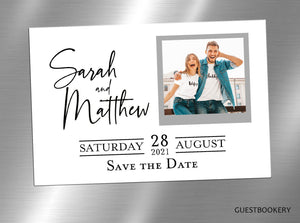 Minimalistic Save The Date Magnets - Custom Face
