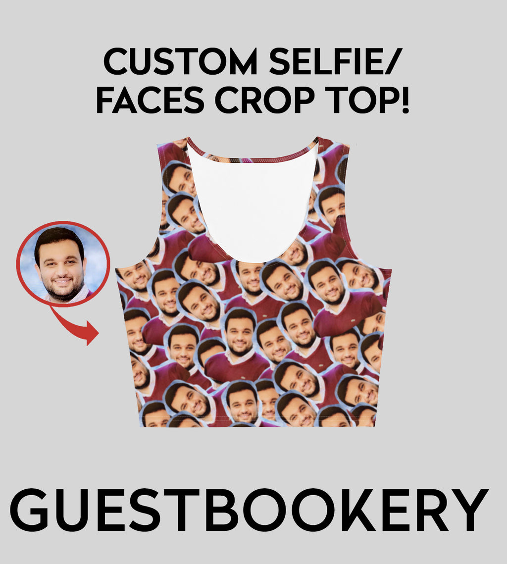 Custom Faces Crop Top - Guestbookery