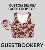 Load image into Gallery viewer, Custom Faces Crop Top - Guestbookery