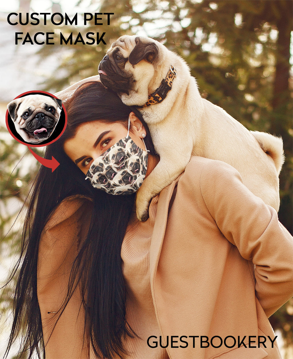 Custom pet face mask